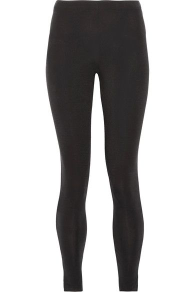 adidas Originals - Printed Stretch Cotton-jersey Leggings - Black -