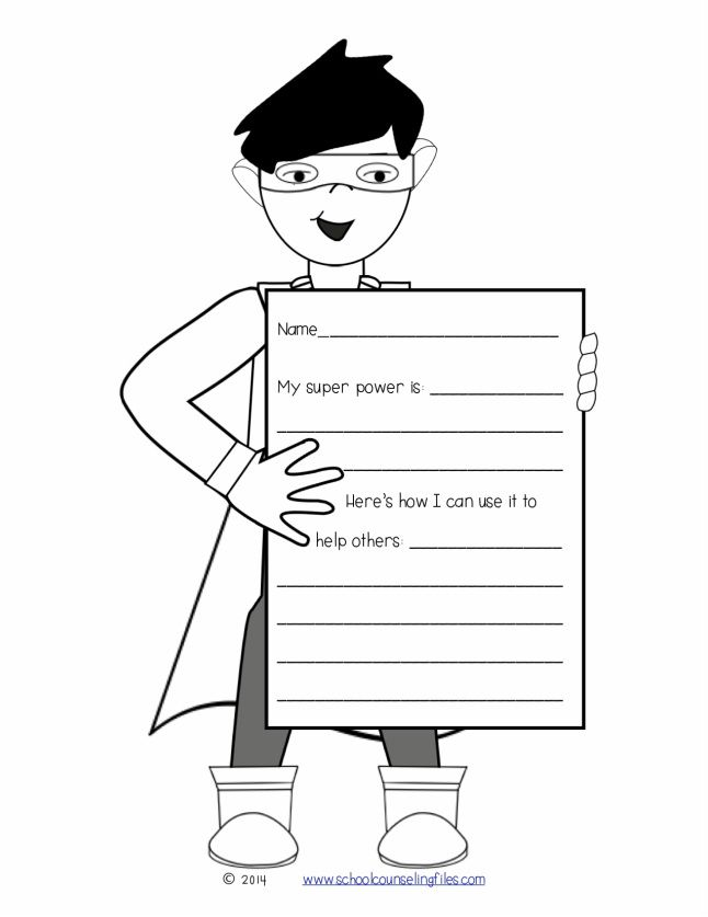 Free activity ideas for Social Superheroes from www.schoolcounselingfiles.com