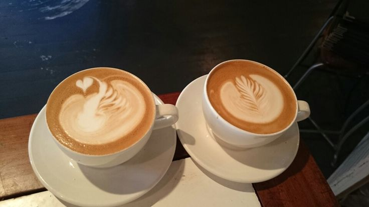Artisan local coffe in cafe and tasting room