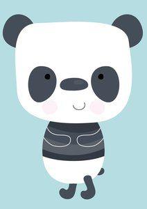 Poster met Panda, de Panda Poster leuk in de kinderkamer. - Dreumesenzo.nl