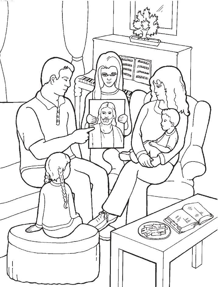 LDS Games Color Time Family Home Evening Church