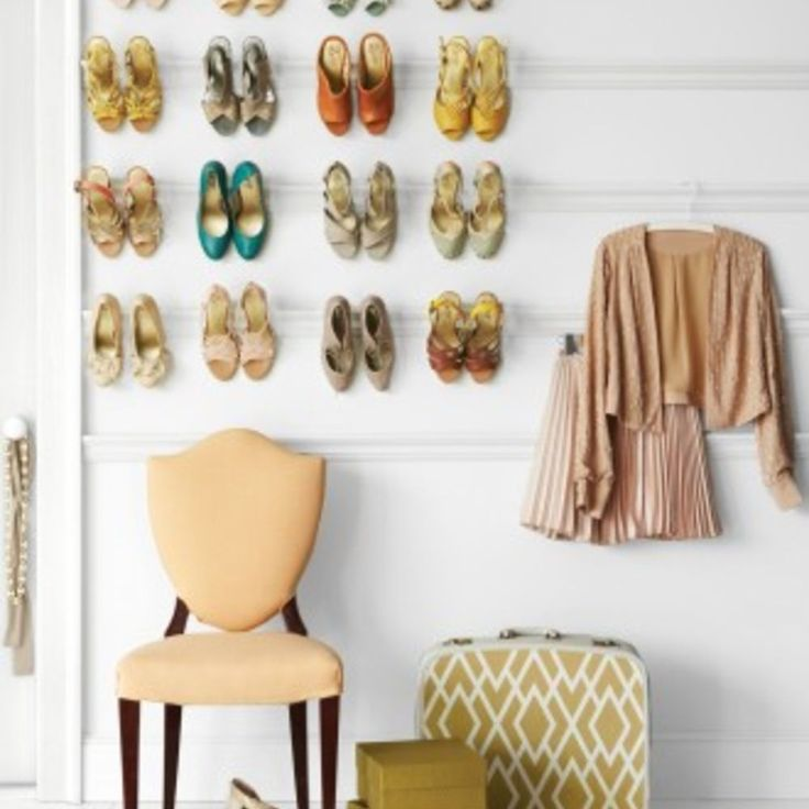 Experience with wall mounted shoe rack? - I'm loving the look of the wall mounted shoe racks that have been hitting the blogosphere for the past several years.…
