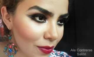 Makeup dramatic eyes  Delineado dramatico y labios color vino
