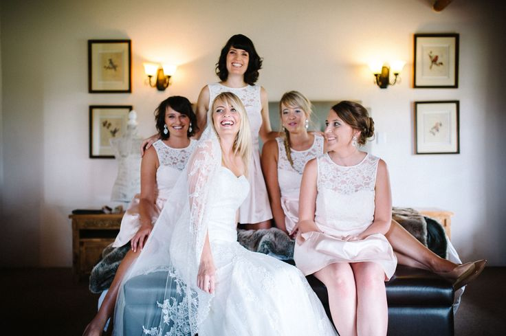The Girls. Photogarphy: Creative Emporium. Venue: Askari lodge, South Africa. Dress: La Sposa, Girls: Forever New
