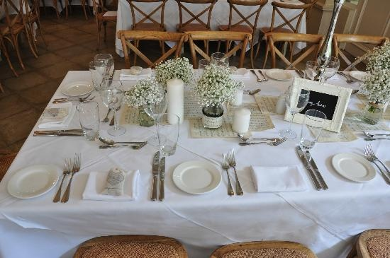 Simple Table Setting Wedding I Love Pinterest