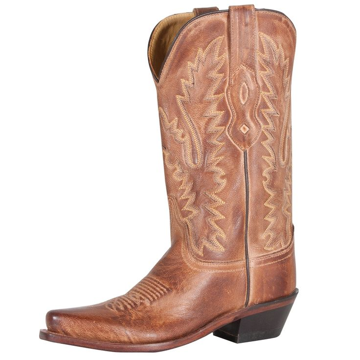 Old West Ladies Western Boot Tan Canyon