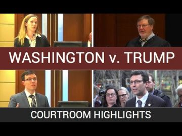 Washington v. Trump: Courtroom Highlights http://video-kid.com/14992-washington-v-trump-courtroom-highlights.html  Highlights from federal court in Seattle on Friday, Feb. 3, as U.S. District Judge James Robart hears arguments from the Department of Justice and Washington state over President Donald Trump's executive order on immigration.