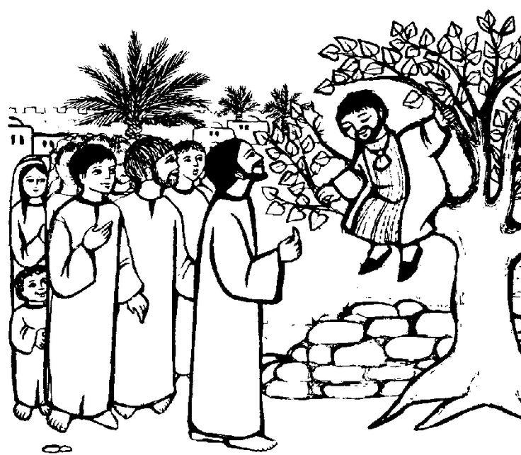 Biblekidseu New Testament Zacchaeus Coloring