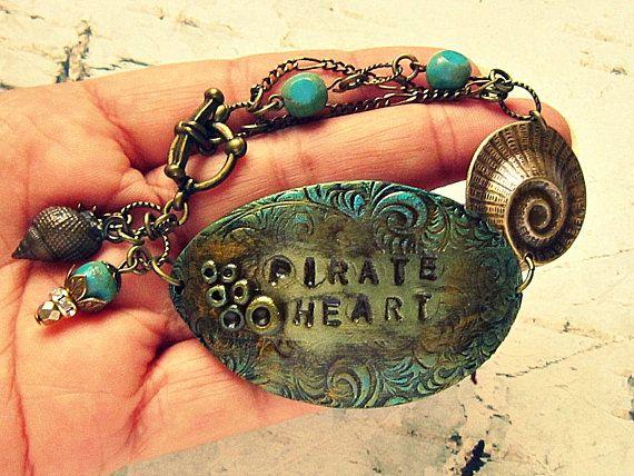 Pirate Heart Bracelet Pirate Bracelet Pirate Jewelry Pirate