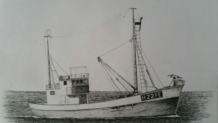 """Fishingvessel """"Feiebuen"""" also used for fishing of bluefin tuna in the 60's as well whale , and basking shark catcher.Not excist anymore"""