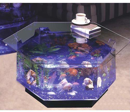 Aqua Octagon Coffee Table 40 Gallon Aquarium