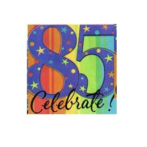 """85th"" Ultra Beverage Napkins (A Year to Celebrate) 16/pkg"