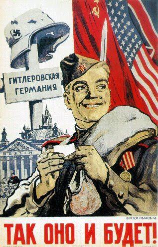 Soviet (Russian) Propaganda Posters 1945