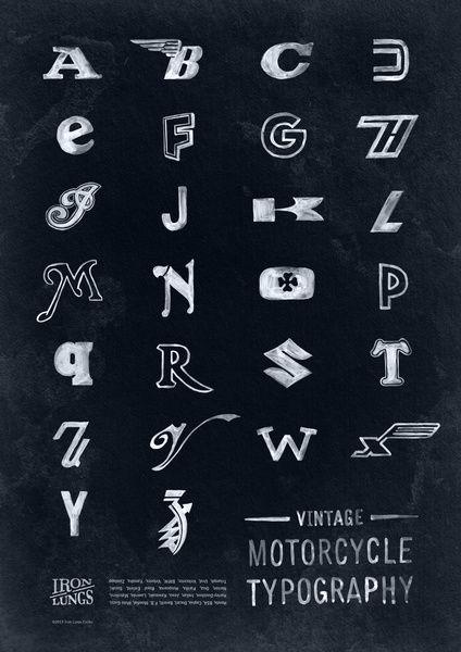 Vintage Motorcycle Typography Art Print