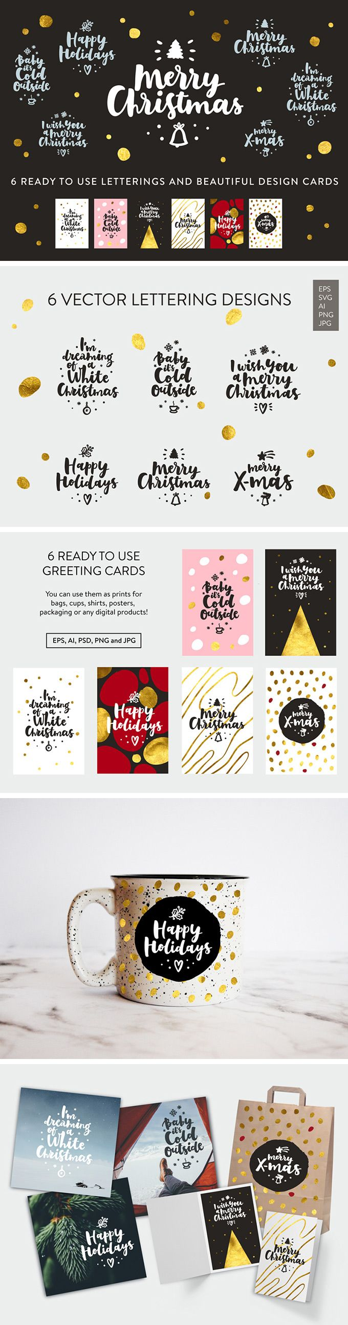 free ecard christmas party invitations%0A Free Merry Christmas Lettering  u     a set of beautiful Christmas lettering  compositions and printready
