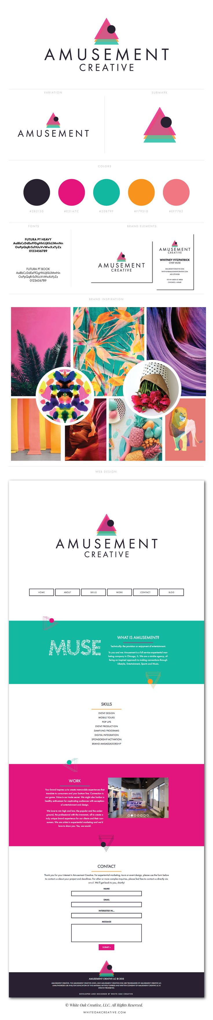 Amusement Creative branding and logo design by White Oak Creative