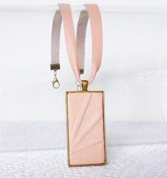 #pinkjewelry #leathernecklace #pinkpendant #pinkearrings