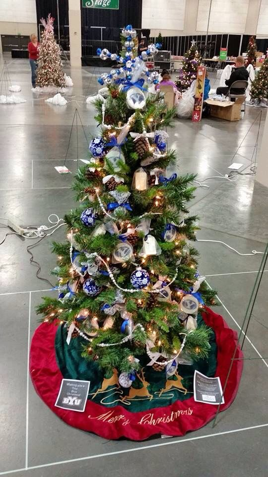 Beehive Soap Decorated And Donated This BYU Themed Tree For 2014 Festival Of Trees