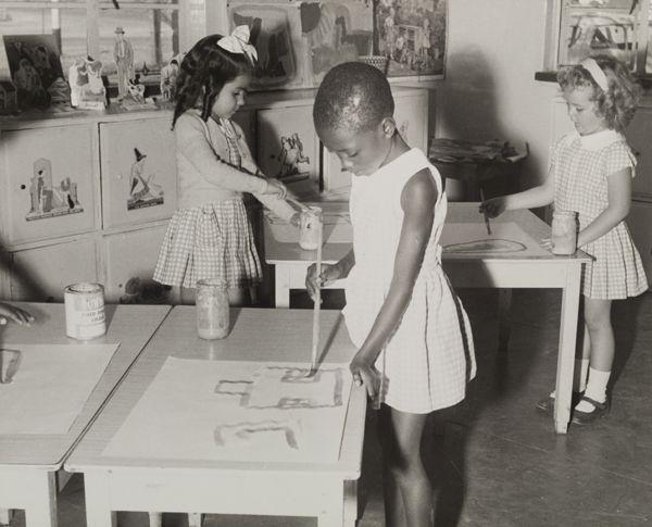 Girls at School in Northern Rhodesia, c.1950.
