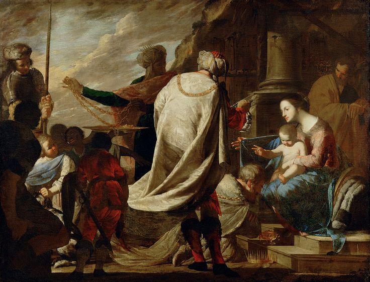 Bernardo Cavallino (1616–1656) Adoration of the Magi,  1630-1656  :The Kunsthistorisches Museum,    Vienna. Austria  (1280×977)