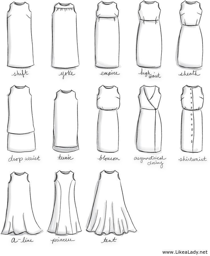 Names For Types Of Dresses Fashion Terms Pinterest Types Of Dresses Shape And Types Of