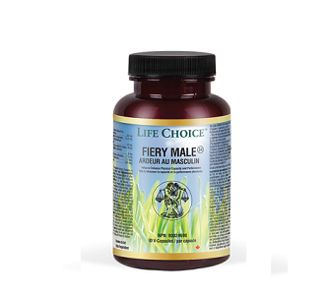 Life Choice Fiery Male: Fiery Male is a completely natural formula, designed for men to balance their hormones, raise their testosterone levels, and in turn, increase libido. Use for all-natural powerful sexual enhancement and performance.