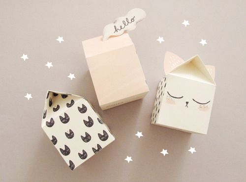 FREE printable paper house boxes ^^