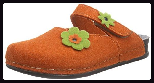 Manitu Home 320367, Damen Pantoffeln, Orange (Orange), 42 EU - Hausschuhe für frauen (*Partner-Link)