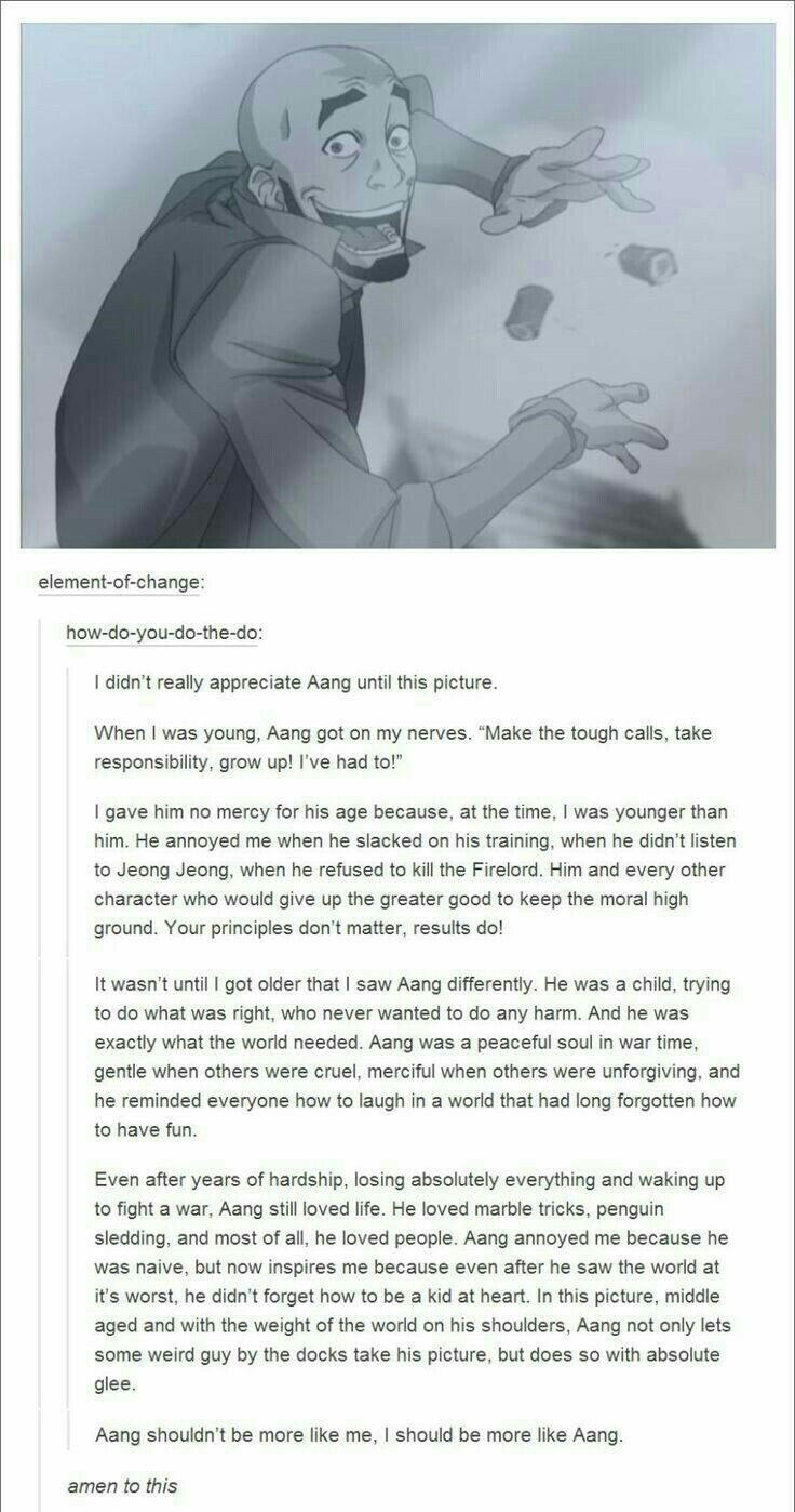 Because Aang Is The Best Person Ever For Real What A Precious