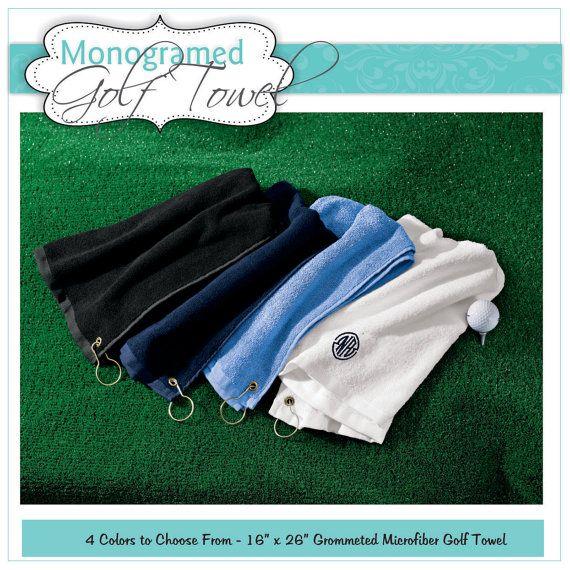 Personalized Golf Towel, Monogram Golf Towel, Embroidered Golf Towel, Custom Golf Towel, Golf Gift, Golf Accessories, Golf Favor, Mens Gift