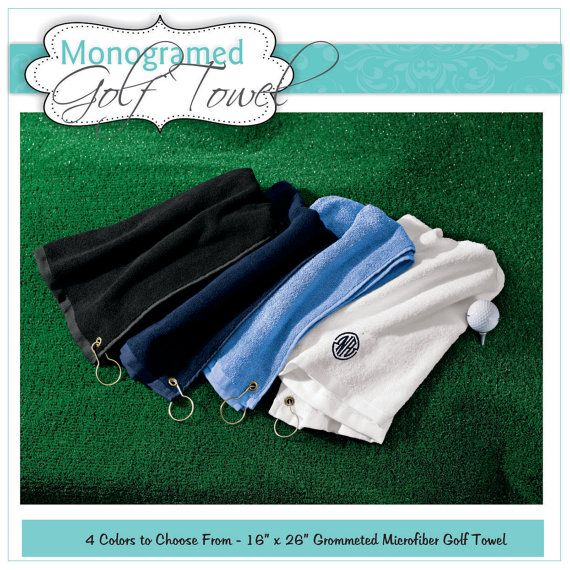 Groomsmen's gift for the golf outing: Personalized Golf Towel Monogram Golf Towel by Markeza