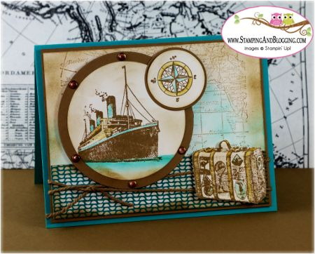 Stampin Up Traveler for Stamping and Blogging card by Sandi @ www.stampingwithsandi.com