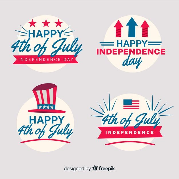 Download 4th Of July Badge Collection For Free Vector Free American Flag Background Happy Independence Day Usa