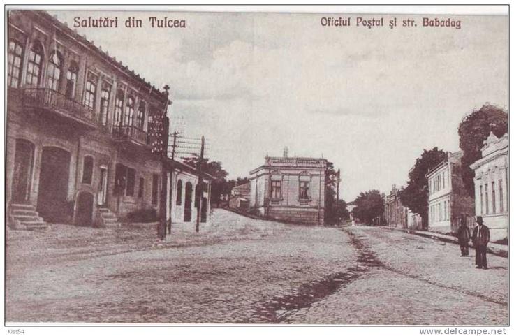Tulcea - Oficiul Postal si str Babadag - interbelica