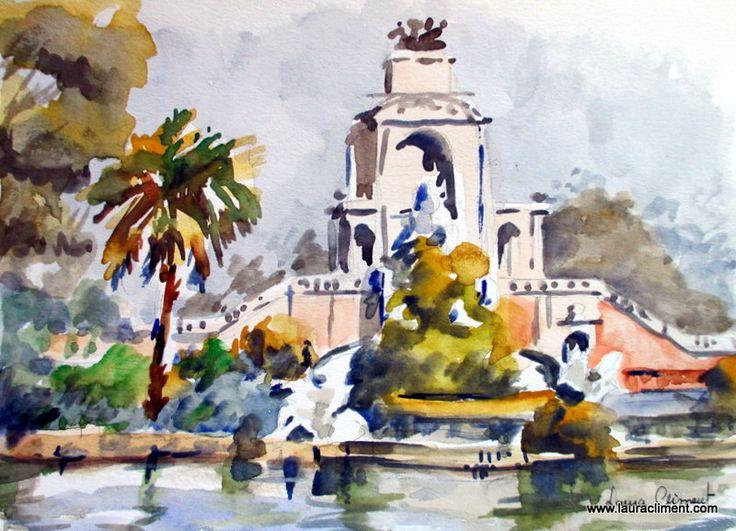 Ciutadella's Park  Watercolor