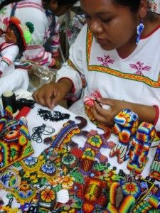 Huicholes Art Work - tiny beads, great skill. Mexico.