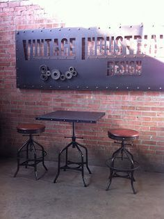 industrial style menu signage - Google Search