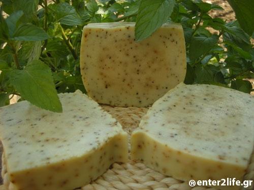 Χειροποίητο Σαπούνι Μέντας  - Handmade  Peppermint Soap www.enter2life.gr