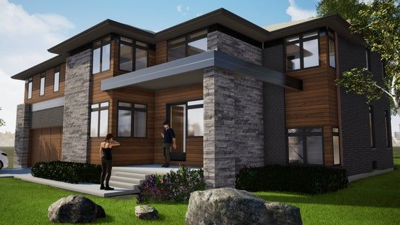 Modern House Plans Lux House House Plans Floor Etsy In 2020 House Designs Exterior Modern House Plans House Exterior