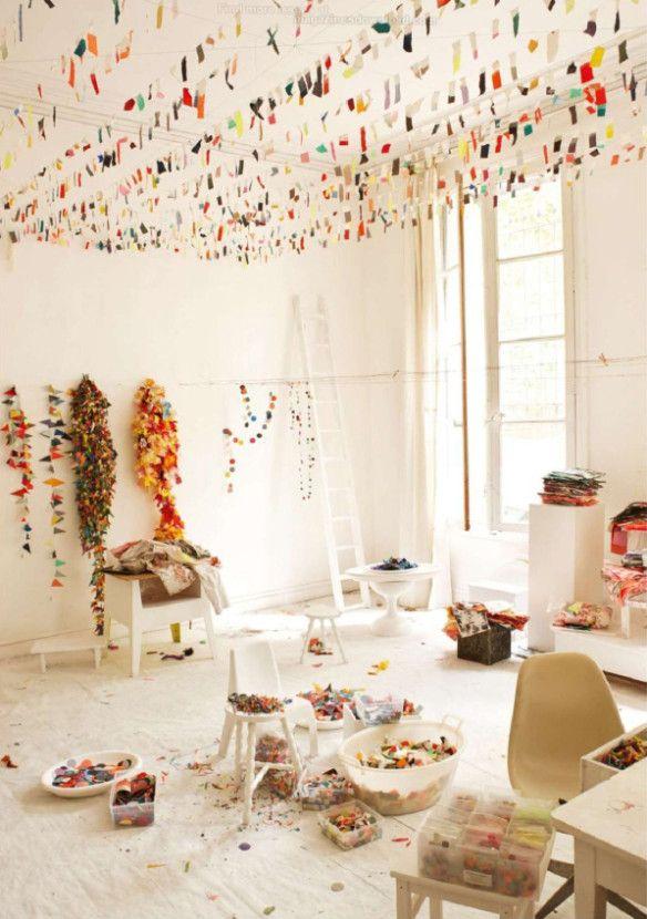 Sophie Cuvelier : l'art de faire des guirlandes un art                                                                                                                                                      Plus