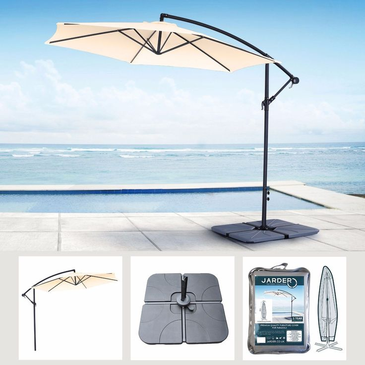Garden Parasol Base #cover Set Umbrella #cantilever Outdoor #patio Bases  Parasols, View