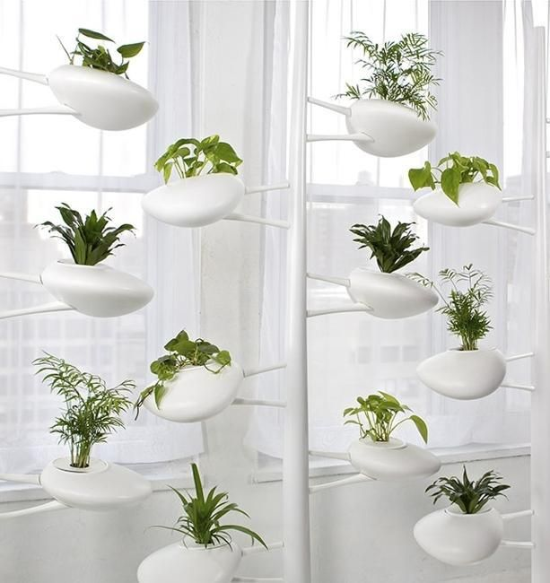Hydroponic Planter Holders from Danielle Trofe Adding Green Accents ...
