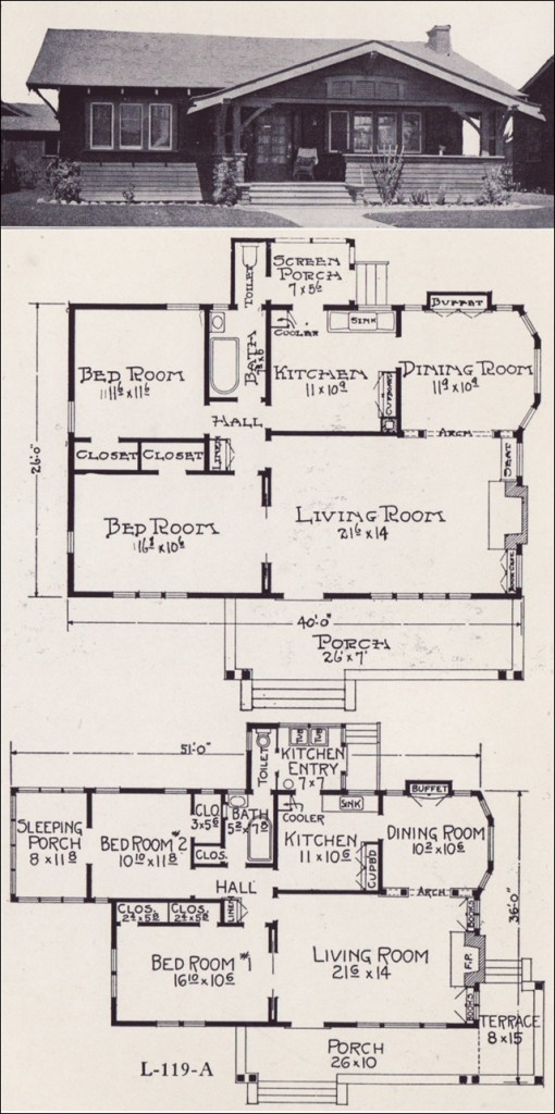 Bungalow Cottage House Plans Stillwell