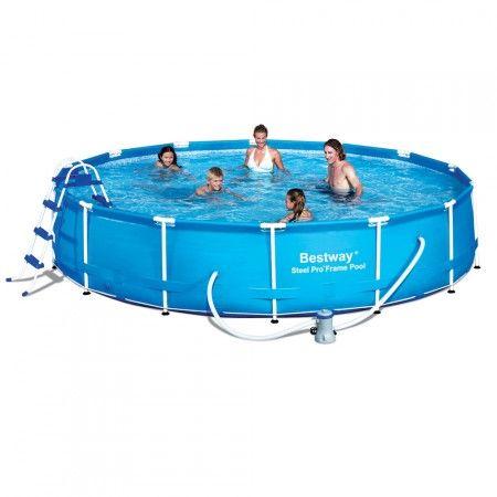 bestway piscina steel pro frame 457x91cm 12627lt con