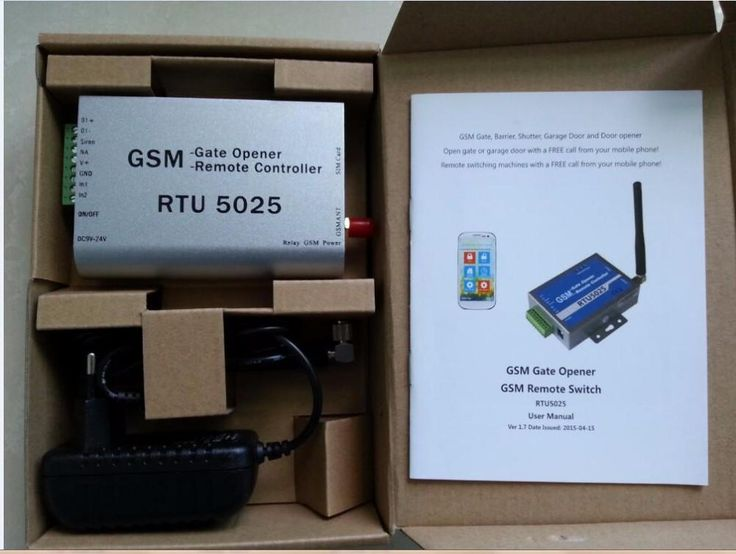 RTU5025 GSM Gate Door Opener Operator with SMS Remote Control (1Output/2 Inputs) for garage swing sliding gate motor