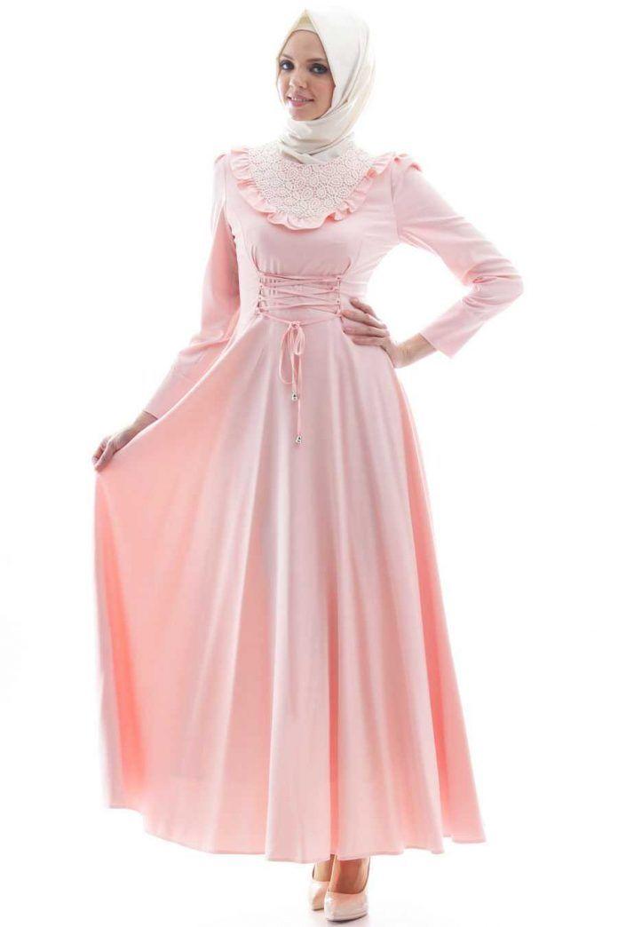 Tesettür Nikah Elbiseleri - En Güzel Abiye Tesettür Elbise Modelleri