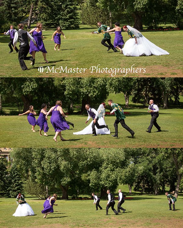 No matter what you are wearing you can always make time for a quick game of football.  #yeg #yegwedding #fun #football #mcmasterphoto #yegfun #madeinyeg #weddingphotographer #photographer #photo