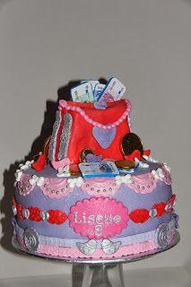 lekker zoet: geld taartje voor Lisette 9 jaar