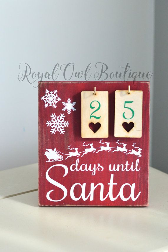 1000 Ideas About Santa Countdown On Pinterest Countdown To Christmas Chri
