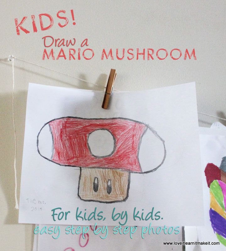 how to draw a mushroom step by step easy